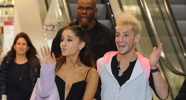 Ariana Grande 'outed' her half-brother Frankie, he has claimed (Image: Getty - under licence)