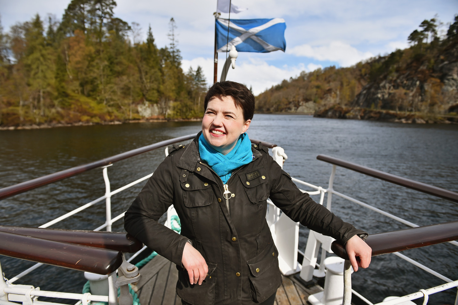 Ruth Davidson was called a 'dyke' during a satirical performance at the event