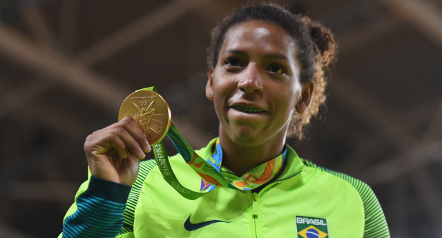 Brazil's first gold medal-winner at Rio came out publicly as gay (Image; Getty - under licence)