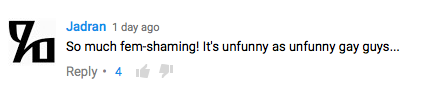 unfunny gays comment