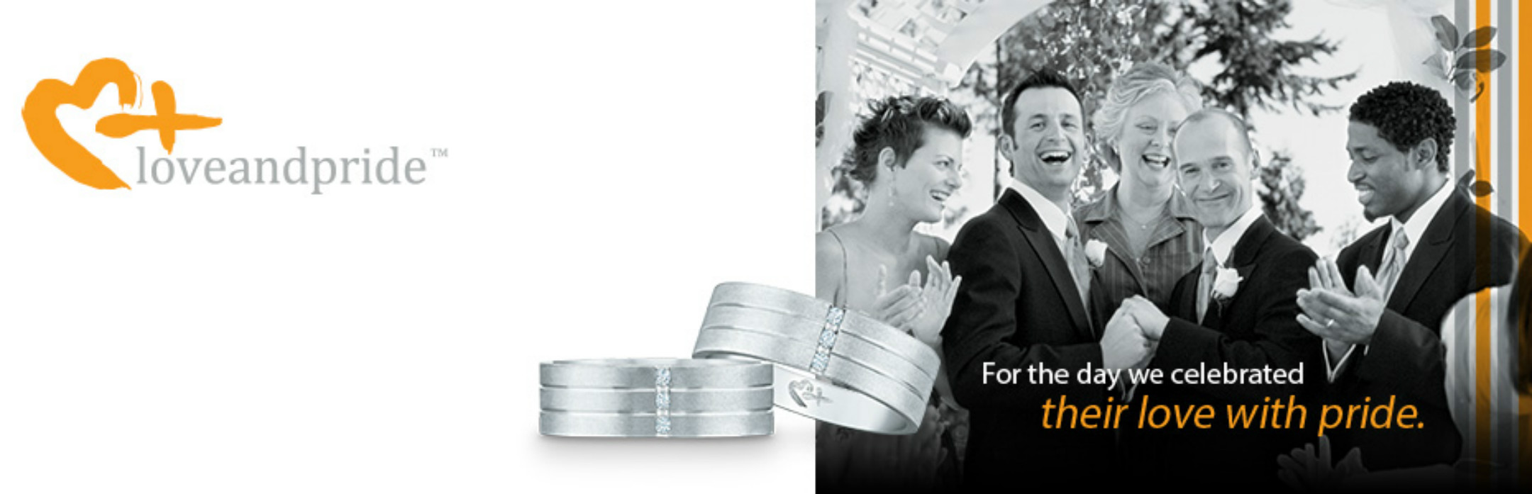 Wedding rings made specifically for same-sex couples are now available at a major US jewelry chain