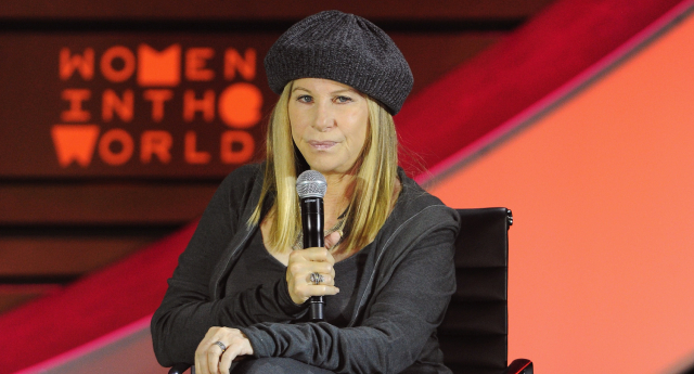 Streisand took to the stage and didn't pull any punches...