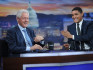 Bill Clinton (left) and Trevor Noah.  (Photo by Brad Barket/Getty Images for Comedy Central)