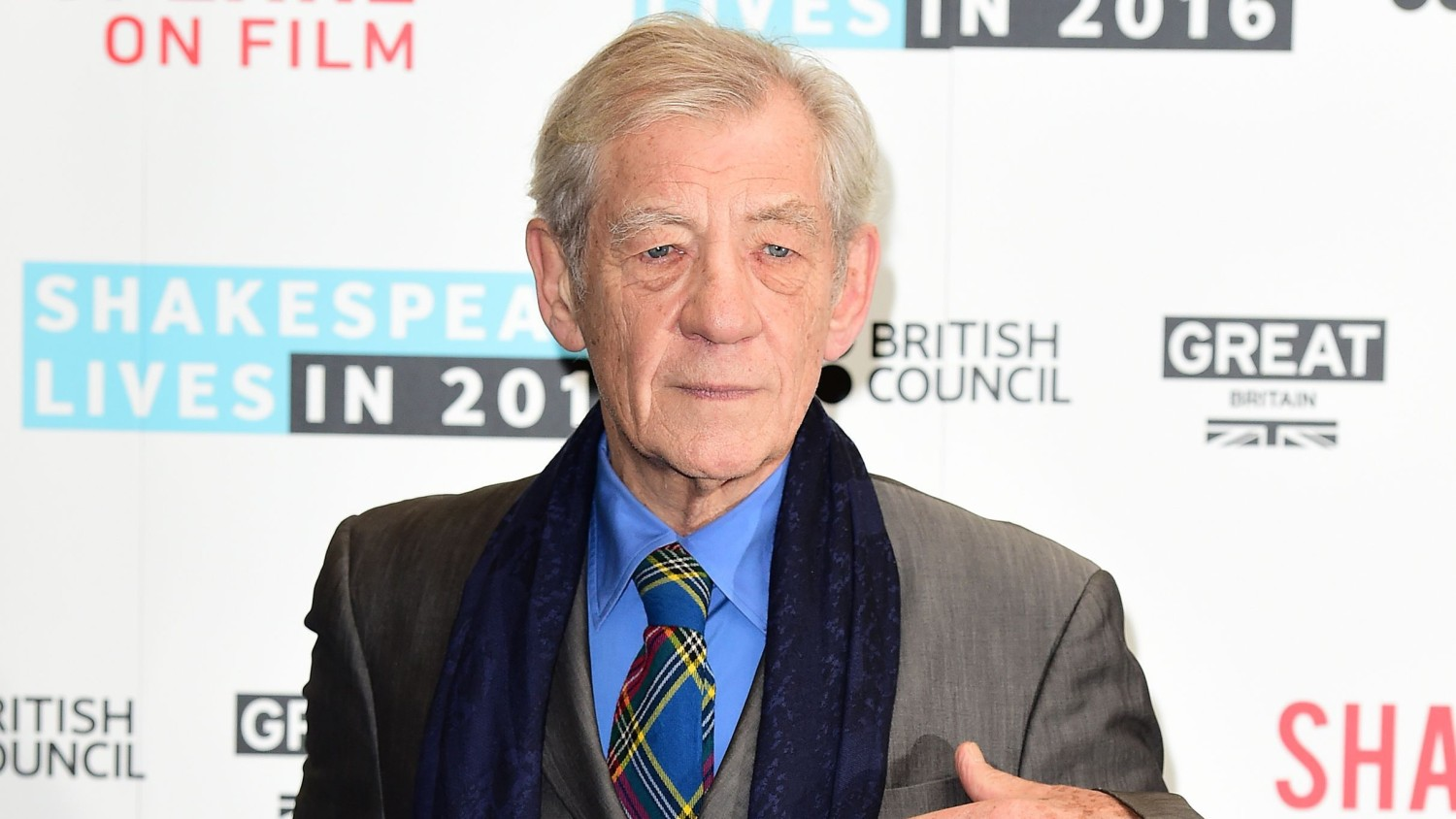 Sir Ian McKellen address the youth campaigners at the Stonewall Youth Awards.