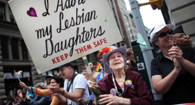 Francis Goldin at NYC Pride (Getty Images)