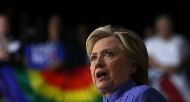 Hillary Clinton makes speech (Getty Images)