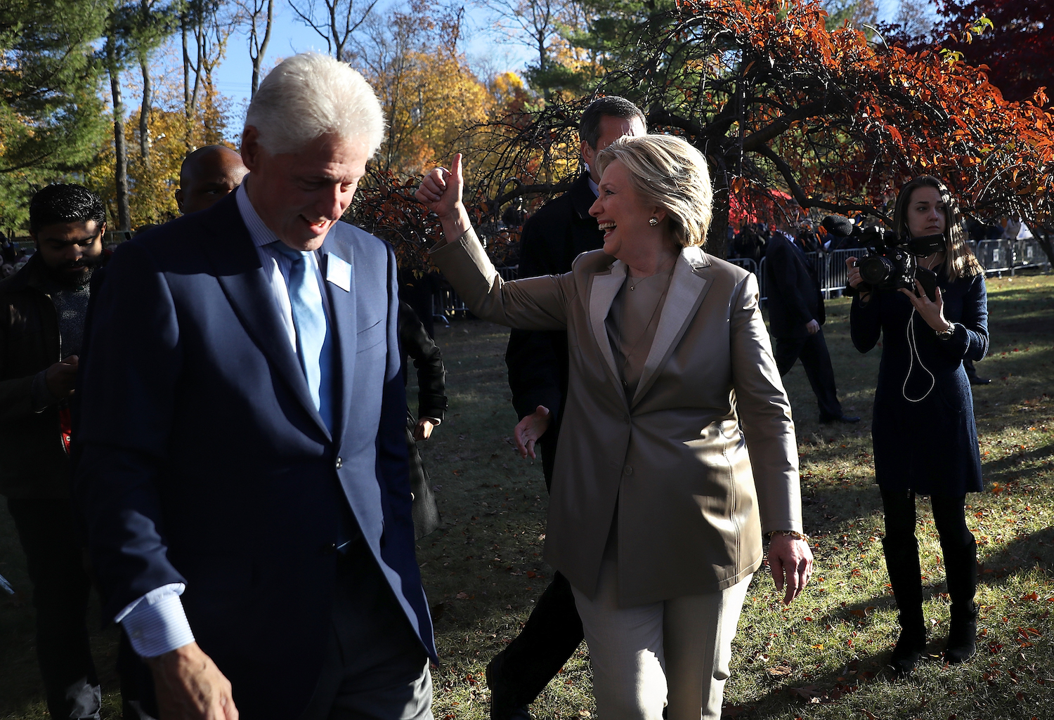 Democratic Presidential Candidate Hillary Clinton Casts Her Vote On Election Day