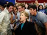 Hillary Clinton on a 2008 school visit (Photo by Joe Raedle/Getty Images)