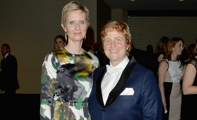 Cynthia Nixon and her wife