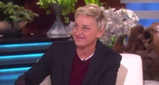 Ellen on her talkshow (Image: YouTube)