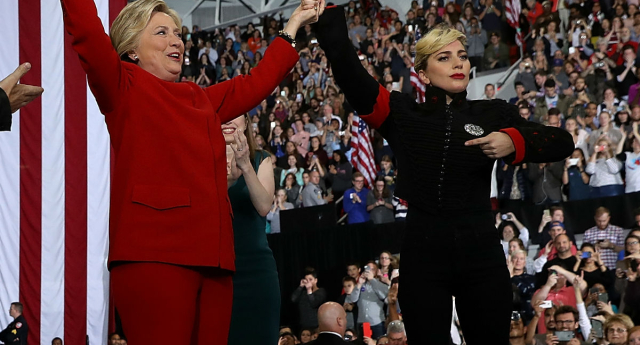 Lady Gaga supports Hillary Clinton (Getty Images)