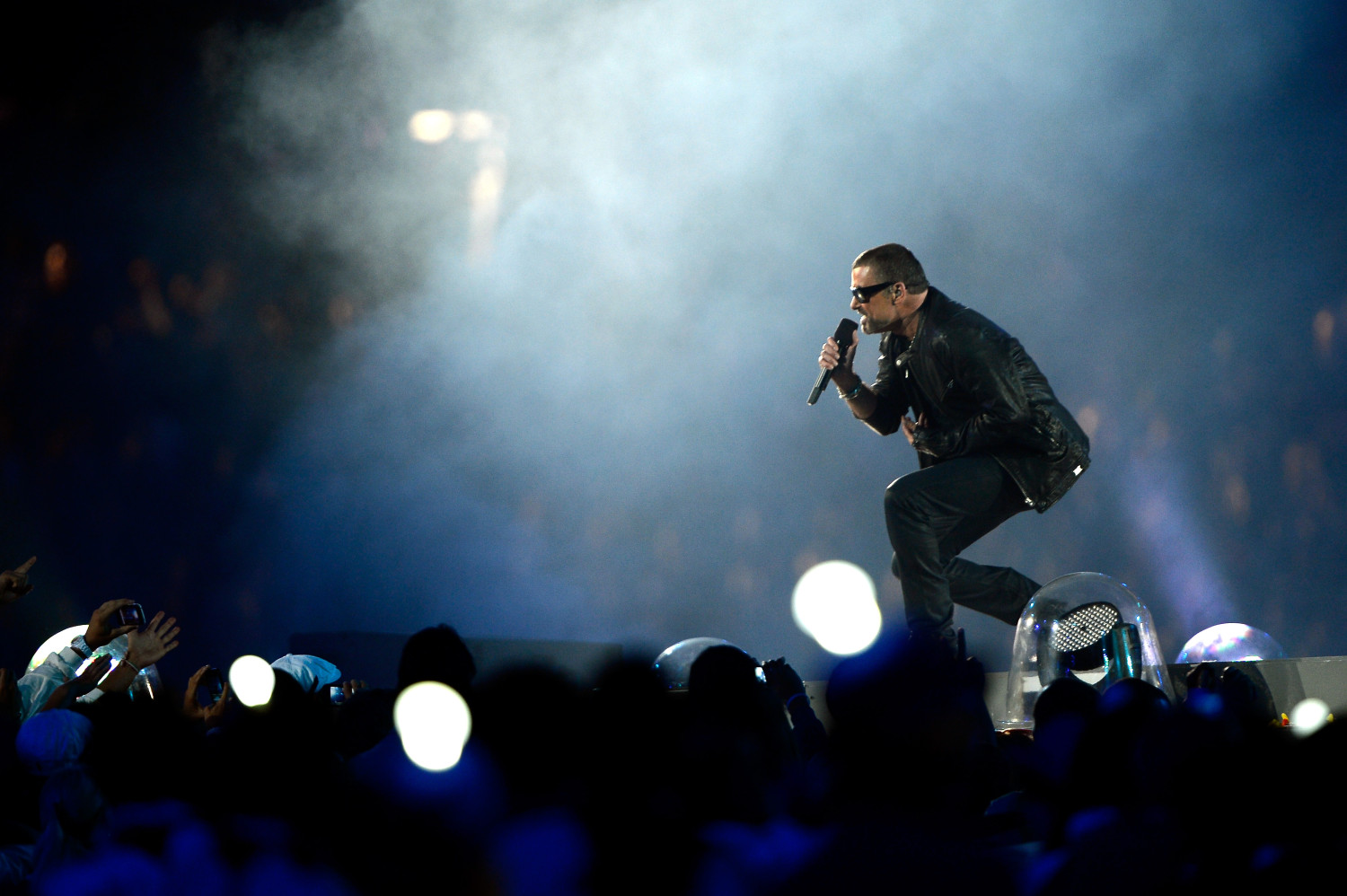 George Michael performing at the 2012 Olympic closing ceremony (Pascal Le Segretain/Getty Images)