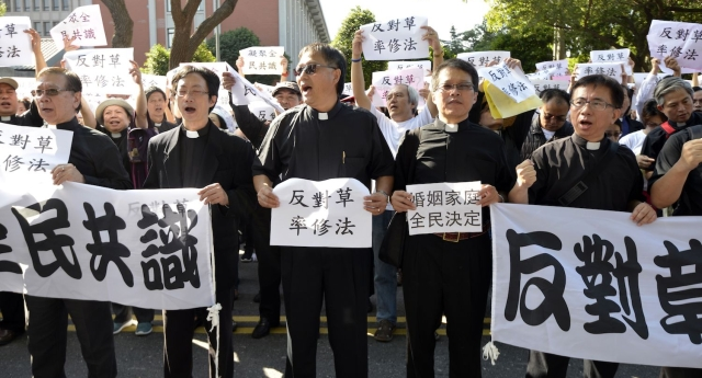 Religious groups are opposed to equal marriage in Taiwan (Image: getty - under licence)
