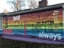 The Equality House was vandalised with anti-LGBT graffiti and bullet holes