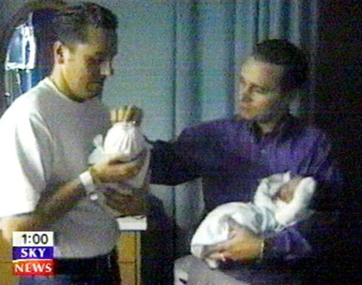 The family received widespread media attention when they became Britain's first gay dads (Credit: Sky News)