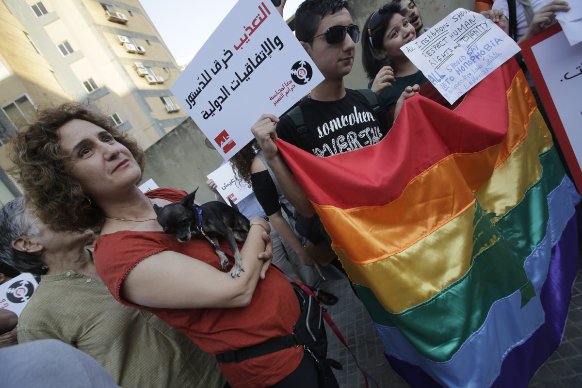 Activists attend anti-homophobia rally in Beirut (Photo by JOSEPH EID/AFP/Getty Images)