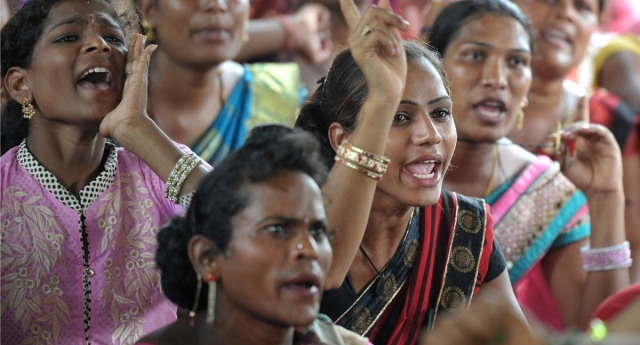 Transgender activists protest in India (Photo by NOAH SEELAM/AFP/Getty Images)
