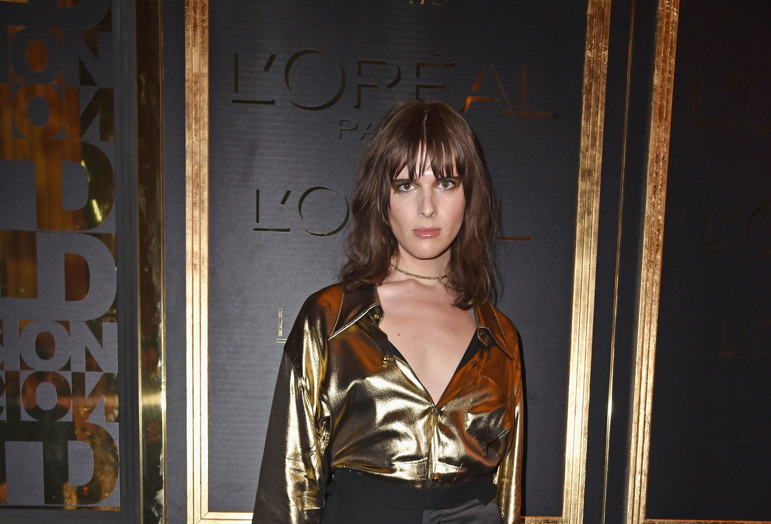 Hari Nef at the Gold Obsession Party for L'Oreal Paris (Pascal Le Segretain/Getty Images)