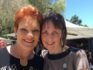 Party leader Pauline Hanson and Michelle Meyers
