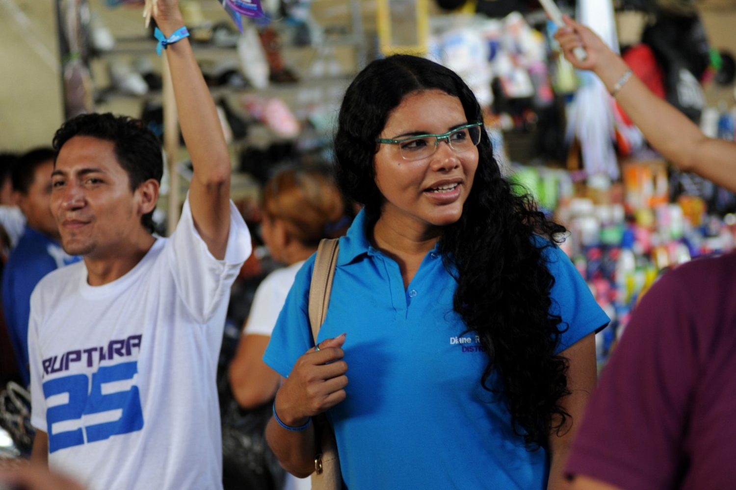 Diane Rodriguez campaigning for election (CESAR PASACA/AFP/Getty Images)