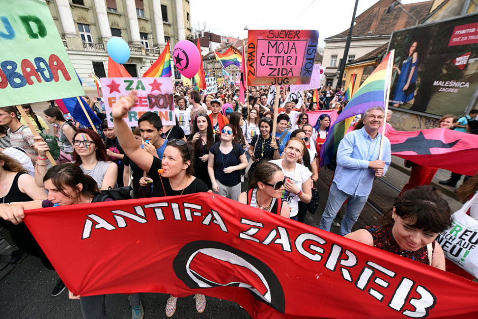 A thousand protested against the violence which took place in the LGBT club