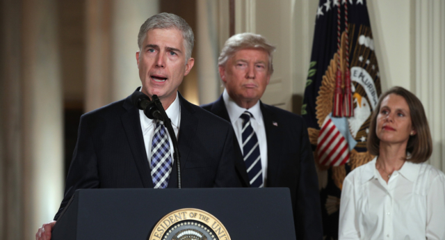 President Trump nominated Neil Gorsuch for the vacant US Supreme Court seat