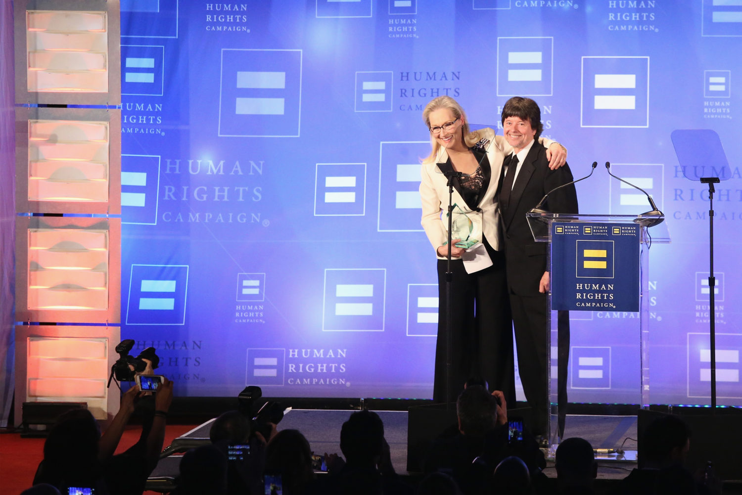 Meryl Streep and filmmaker Ken Burns at the Human Rights Campaign Gala (Rob Kim/Getty Images)