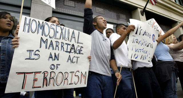The survey shows a majority of many denominations now supports same-sex marriage (Images: Getty - under licence)