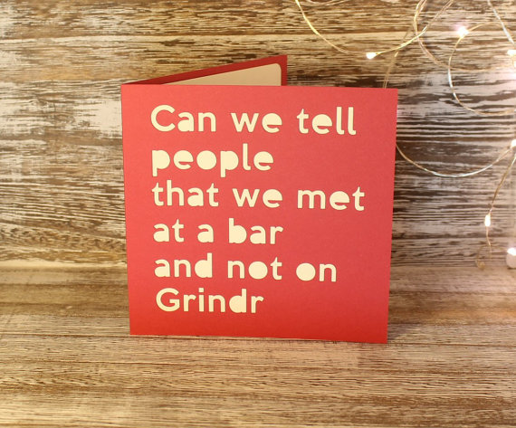 Did you meet on Grindr?
