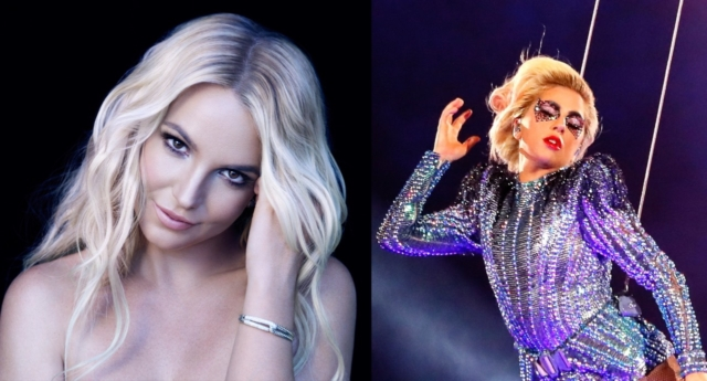 Britney Spears (left) and Lady Gaga
