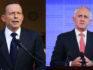 Tony Abbott (L) and Malcolm Turnbull (R) (Photos by Stefan Postles/Getty Images)