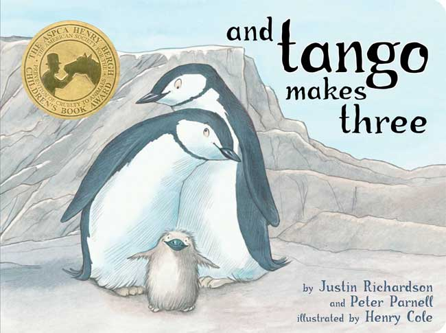 Children's book And Tango Makes Three tells the story of gay penguin couple Roy and Silo