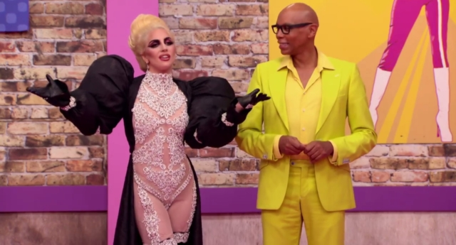 Lady Gaga appeared on the drag show