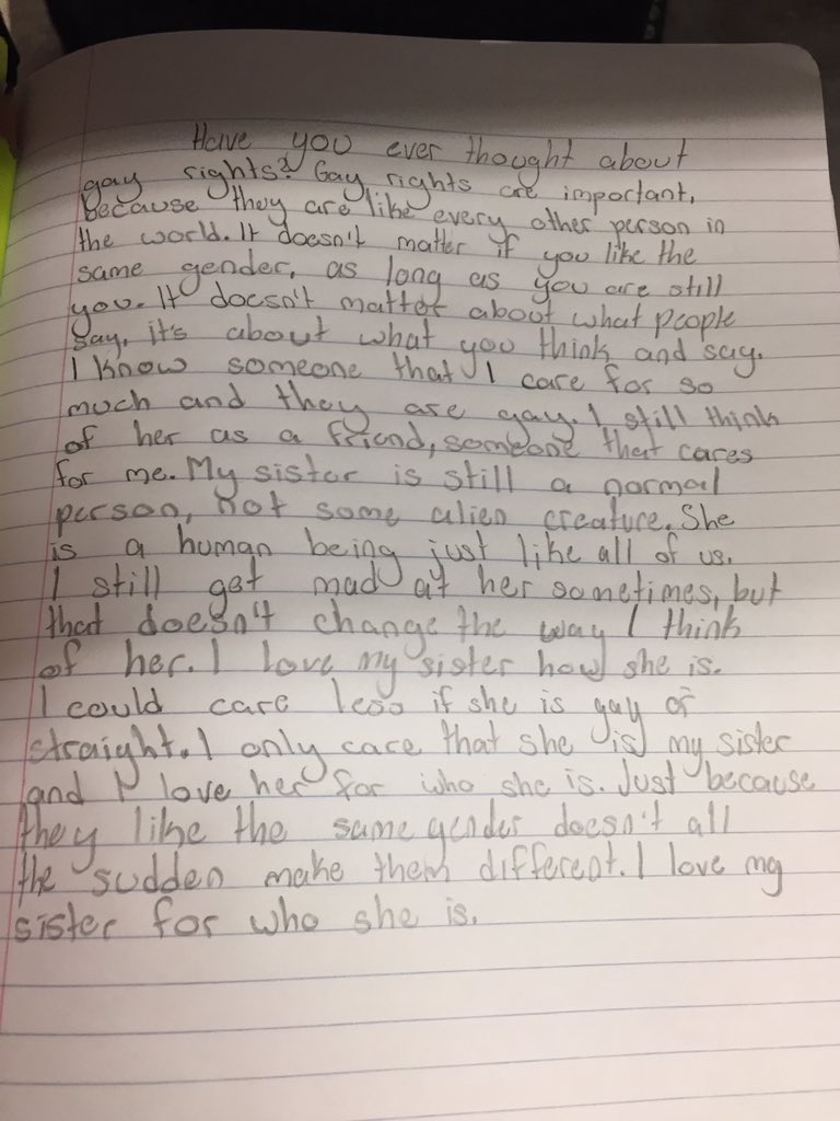 You have to read the beautiful essay this 12-year-old wrote