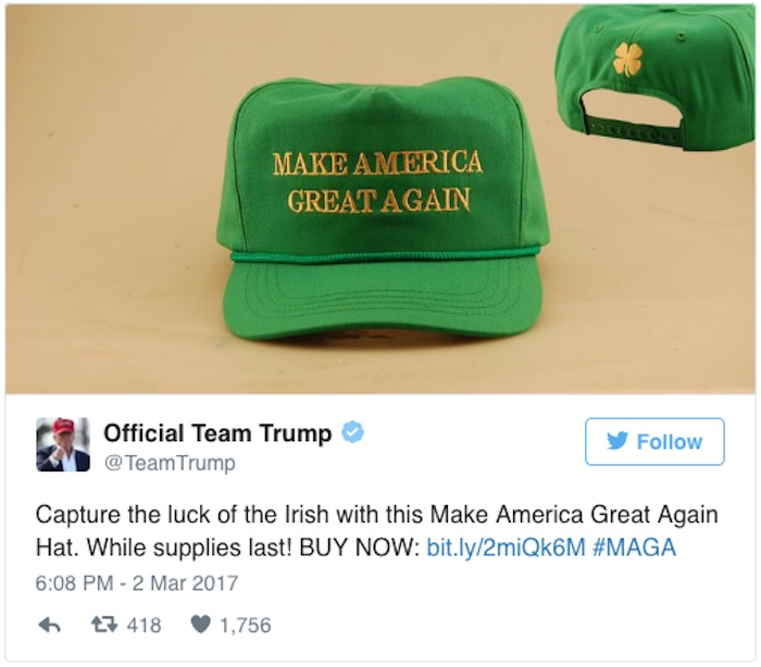 Team Trump has only gone and upset the Irish ahead of St Patrick s ... 8398e5b9ad40