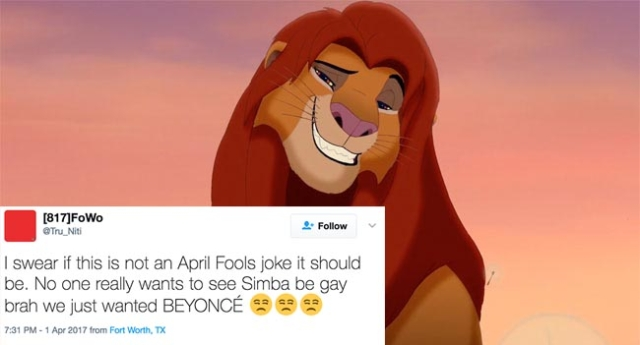 It turns out homophobes couldn't handle Simba being gay in ...