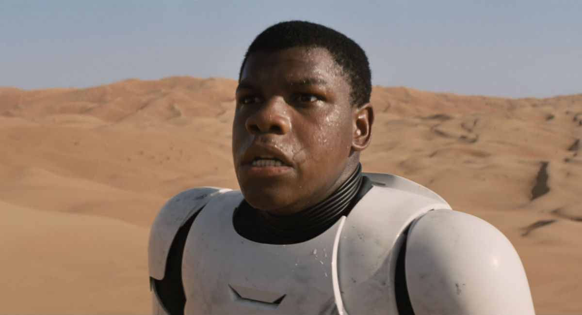 John Boyega as Finn in Star Wars: The Force Awakens