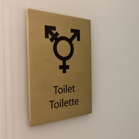 The toilet plaque in Canada House