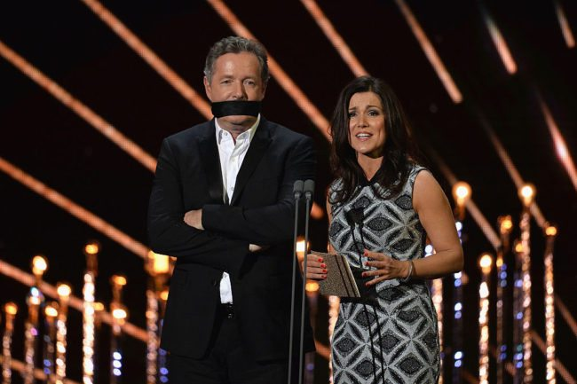 Piers Morgan and Susanna Reid at the National Television Awards