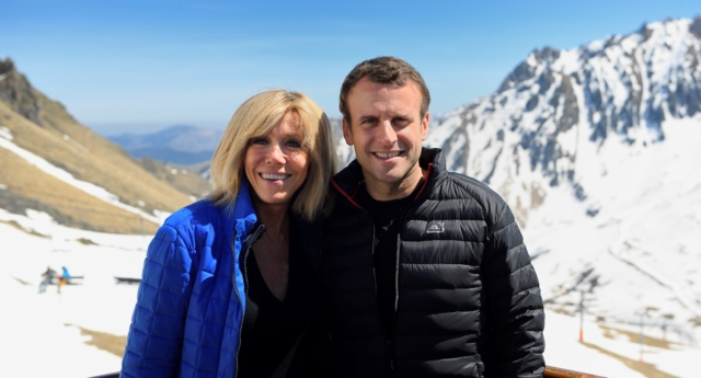 Emmanuel Macron and his wife Brigitte (Image: Getty - under licence)