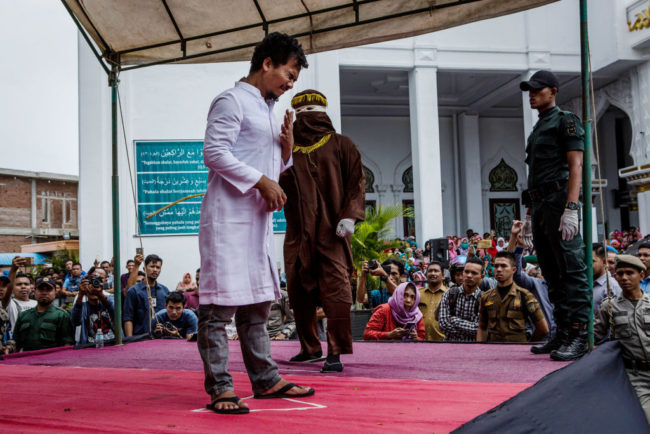 Indonesian gay man gets caned