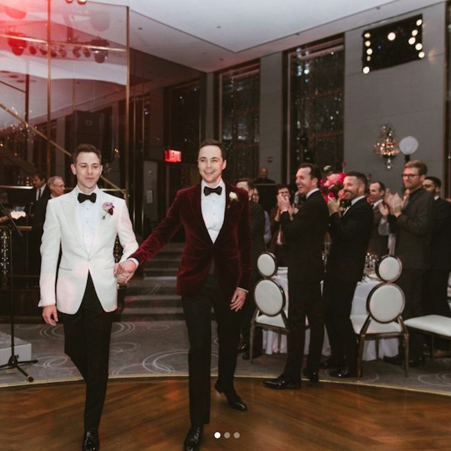 Wedding photo from Jim Parsons' wedding