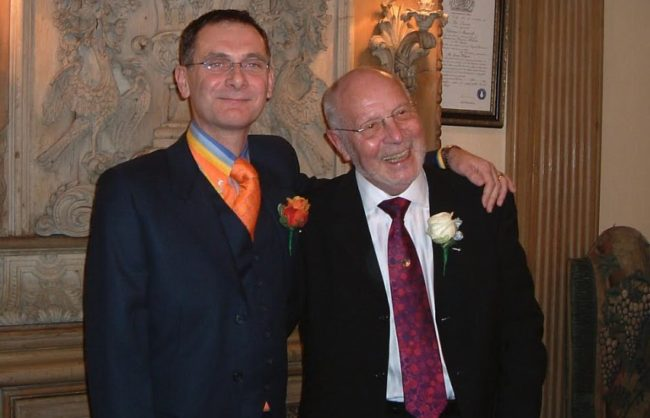 Jonathan and his husband, who died in 2015