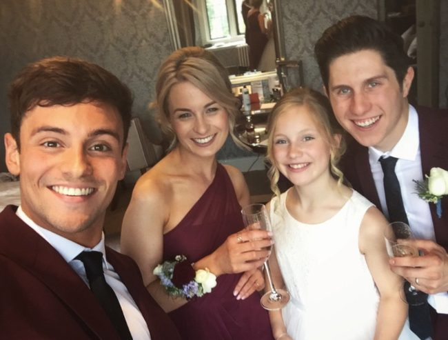 Tom Daley and family