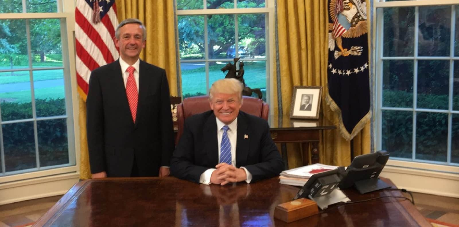 Robert Jeffress and Trump