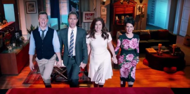 A scene from the Will and Grace revival trailer
