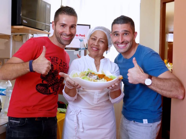 Aaron's mum Stef - the ceviche chef