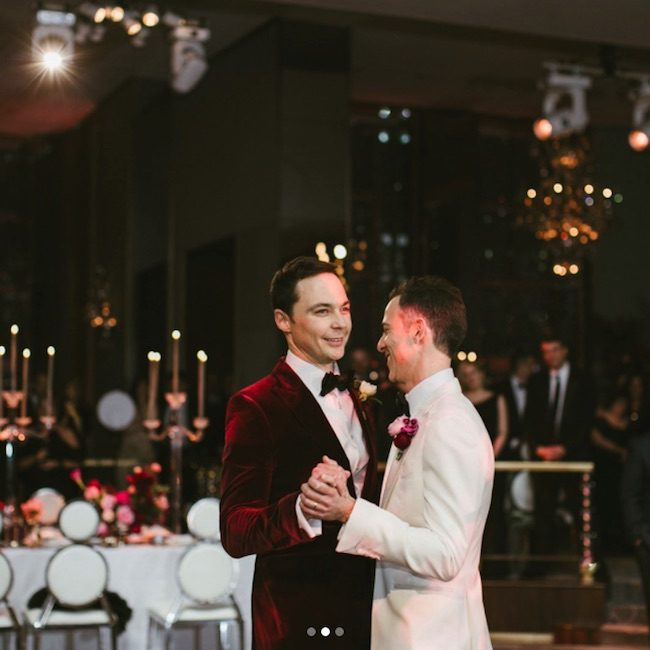 Jim Parsons wedding photo