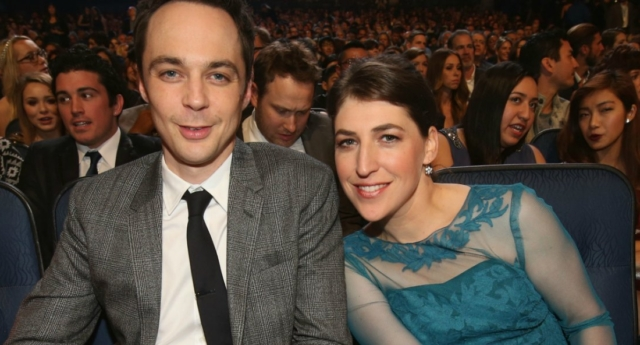 Image result for jim parsons and mayim bialik