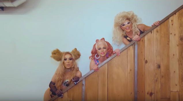 The AAA girls in their new video Alaska (left)  Courtney(middle) Willam(right) (Youtube/Courtney Act)